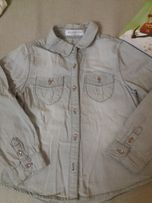 Сіра дитяча котонова рубашка 104 см