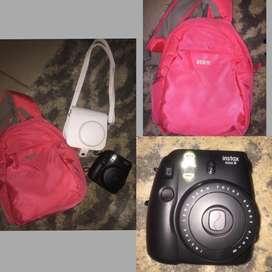 Like new instax camera, backpack and carry case