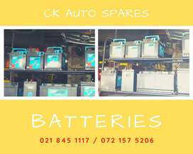 Batteries for sale for most vehicles make and models.