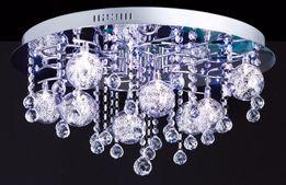 Kryształowa lampa żyrandol Kallisto chrom 60 cm Paul Neuhaus LED Pilot