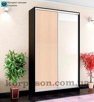 Шкафы-купе любые размеры,6 вариантов цветов