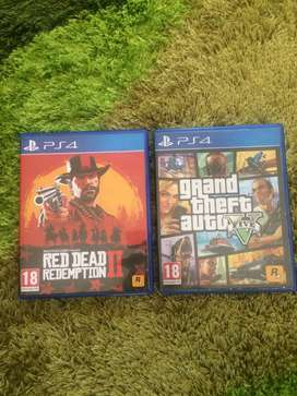 PS4 RDR2 + GTA5 for sale