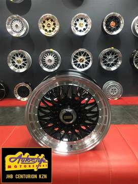 new design polished studded 15 inch and 17 inch  BSS BBS Style 4 100,