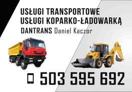 Usługi koparko-ładowarką transport ziemia-kamień-piach-żwir