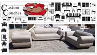 Image of Custom Couches R5800 for a NEW Pixi 2+2+1 Set in colour and fabric of