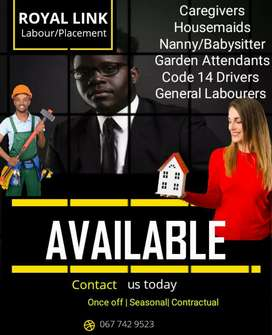 CareGivers:Maids:Nanny and Drivers