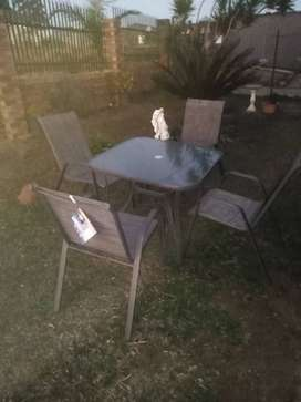 Patio Terrance leisure 5 piece table chairs