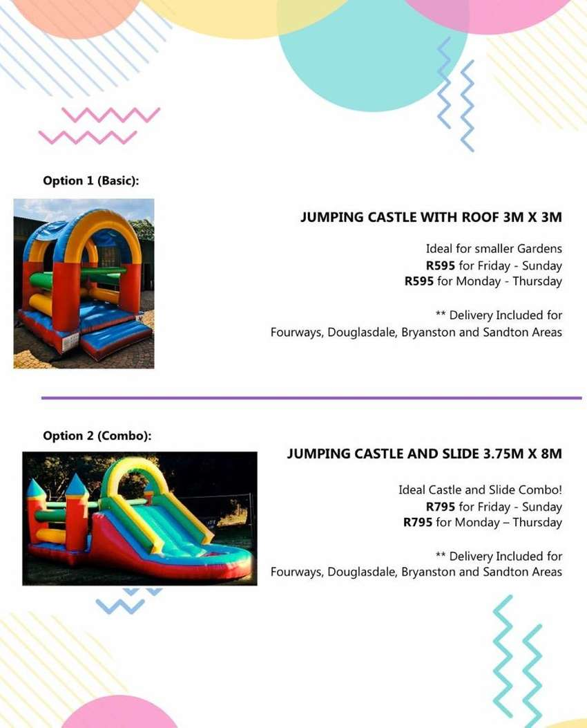 Jumping Castle Hire Fourways 0