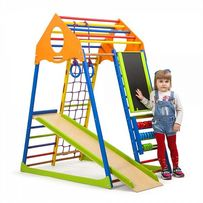 Игровой спортивный уголок от рождения, комплекс детский и горка