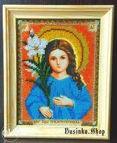 Икона Божией Матери «Трилетствующая» вышитая бисером