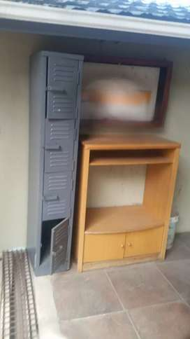 Tv stand and file locker