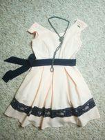 Sukienka A&A, polska produkcja, rozkloszowana, koronka, wysyłka gratis