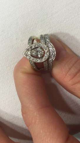 White Gold Diamond Ring for sale