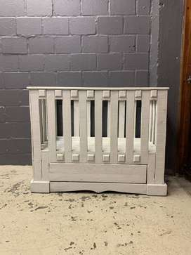 Wooden Baby Cot With Drawer , A23437