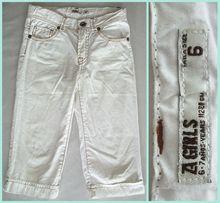 Белые джинсовые бриджи р.110-116 джинсы шорты брюки штаны