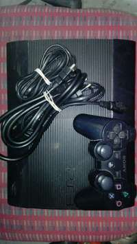 Image of Ps3 + one remote and cables
