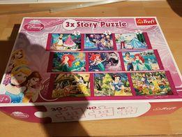 Puzzle Trefl serii Disney 3 bajki w jednym