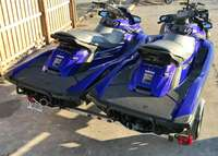Image of No Reserve Pair Of 2013 Yamaha FX Sho Supper-charge Jet Skis & Trailer