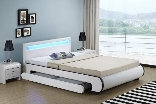 Кровать кожаная Bilbao 180х200 см. с LED подсветкой! Германия! Львов - изображение 1