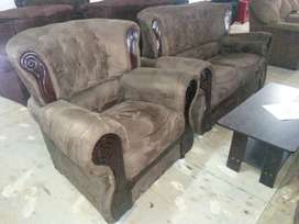 Suede Lounge Suite - 4 PC Quantum
