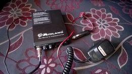 Radio CB Midland 210 DS 40 kanałów AM/FM, ASQ + antena. Jak nowe
