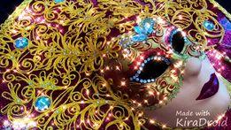 Панно маска ручной работы *Солнце* и * Ночь*