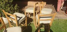 Bar and 5 chairs for sale