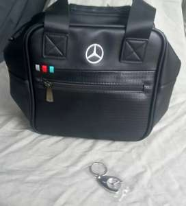 New Authentic Mercedes Benz Bag and Key ring