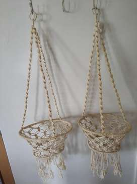 Rope Plant Hanger  Potplants Holder