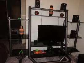 TV stander. Good for any TV size and sound system
