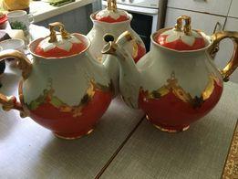 Чайник большой Бутон, фарфоровый, Барановка