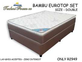 Bamboo Eurotop Set - Size Double