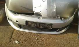 VW POLO 6 SEDAN COMPLETE FRONT BUMBER WITH FOG LIGHTS AND GRILL