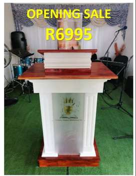 Beautiful Designer Wooden Podium/ Pulpit for Church Services