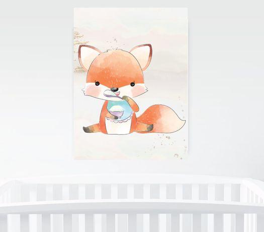 Obrazek A4 plus ramka, Baby Fox Pszczyna - image 2