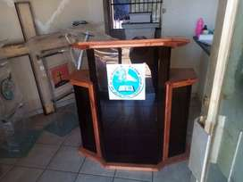 Huge Wood And Tinted Perspex Lectern For Church Services