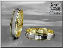Złote obrączki z wstawką białego złota Złoto 585 TANIO Tychy Wyprzedaż
