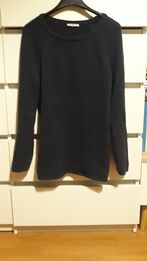 Granatowy gruby sweter Basic