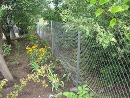 Забор из сетки Рабица, сетчатые заборы, забор из сетки, сетка
