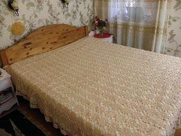 Покрывало на кровать ручной работы