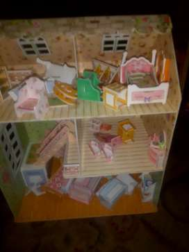 3d paperboard doll house and castle