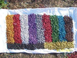 Цветной декоративный (окрашенный) щебень,керамзит
