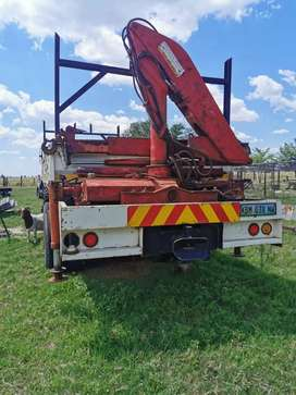 Nissan Truck with mounted crane