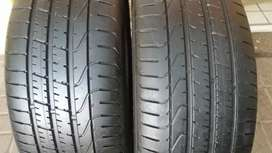Two quality second hand tyres sizes 245/40/20 Pirelli Run flat