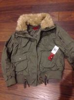 Nowa kurtka bojówka khaki bomberka r XS/S ocieplana