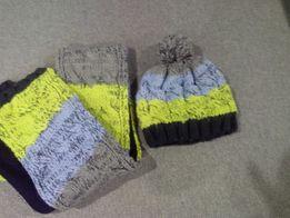 Шапка+шарф для мальчика, для девочки.