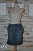 Прямая джинсовая мини-юбка-стретч John Banner - Bonprix новая на 46укр