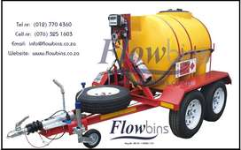 NEW 1000Lt -2500Lt Horizontal Diesel Bowser Trailers with Papers