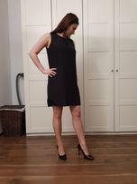WESELE KOMUNIA ŚWIĘTA Czarna elegancka sukienka H&M r.36
