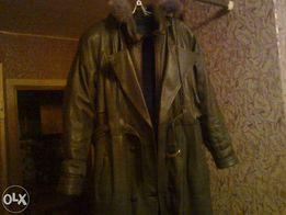 Пальто кожанное разм.52